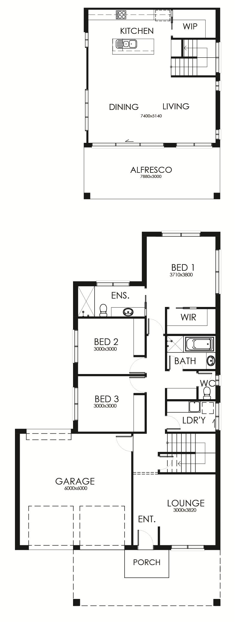 Penna 234 floor plan